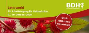 Let´s work 2020 - 19. Arbeitstagung für Heilpraktiker @ Wissenschaftspark in Gelsenkirchen